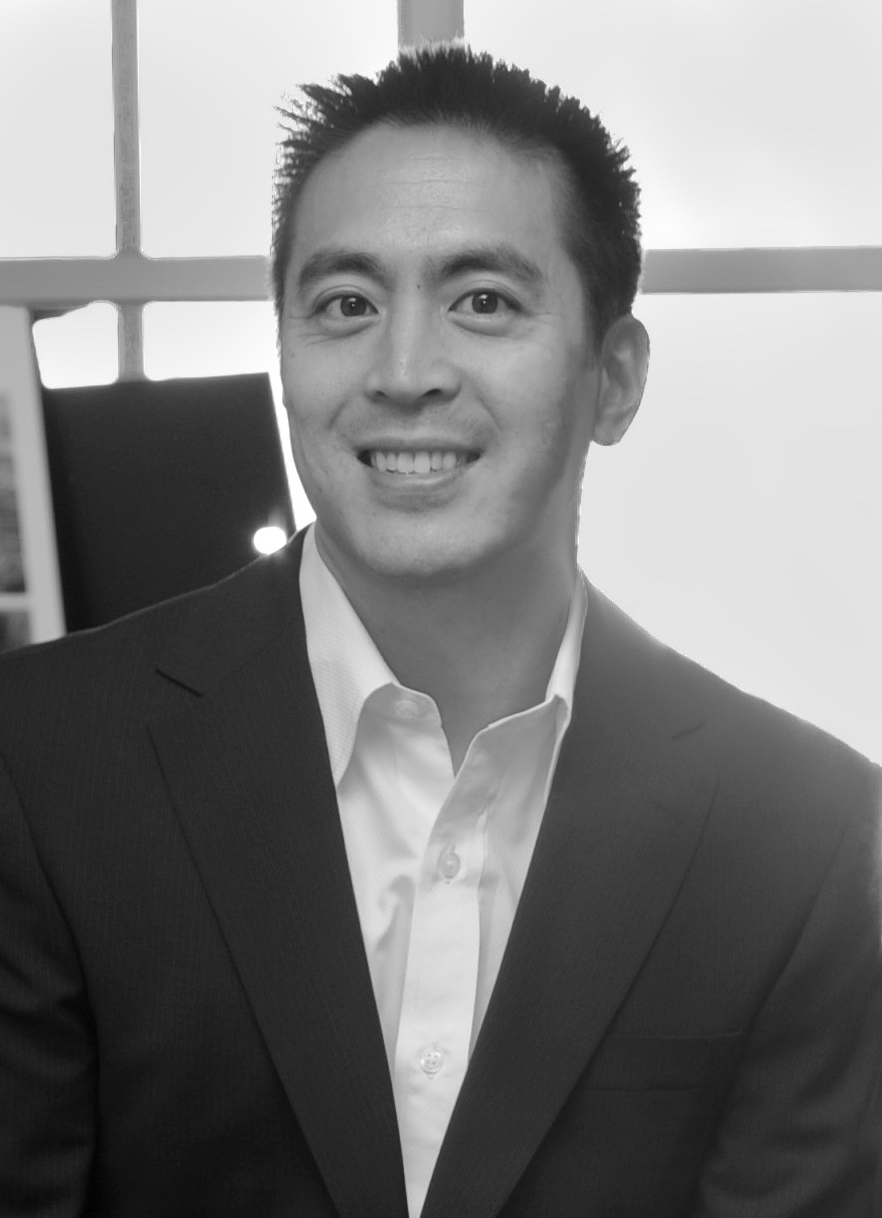 Black and white portrait of Wilson Hu